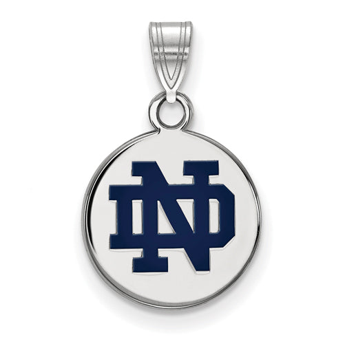 SS University of Notre Dame Small Enamel Disc Pendant