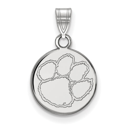 SS Clemson University Small Disc Pendant