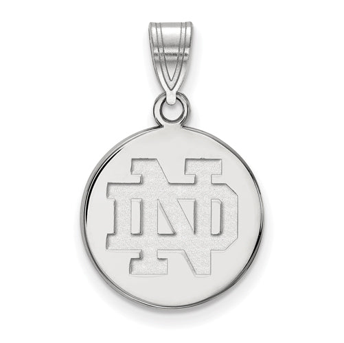 SS University of Notre Dame Medium Disc Pendant