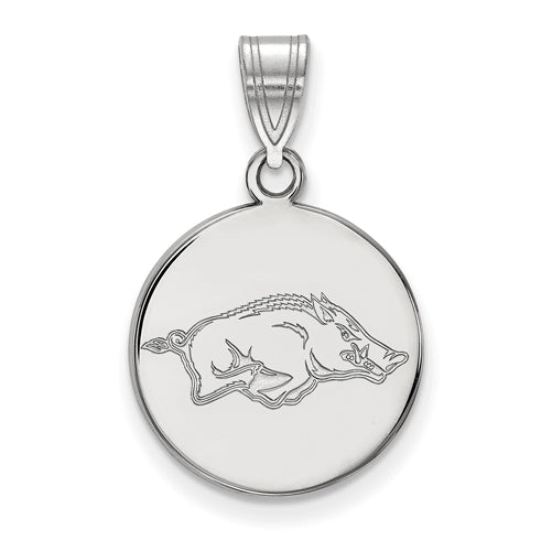 SS University of Arkansas Medium Disc Pendant