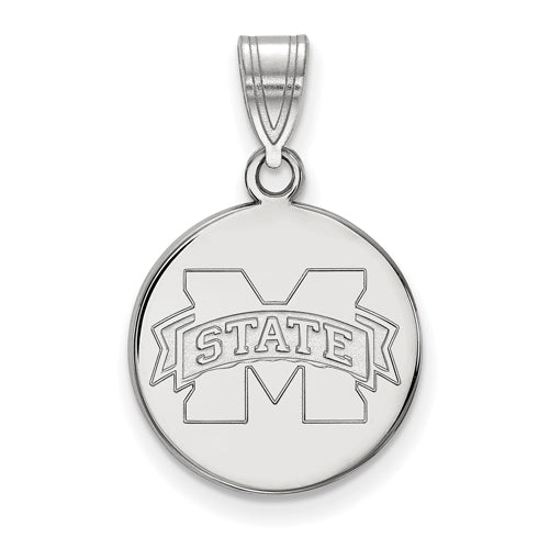 SS Miss St U Medium Disc Pendant