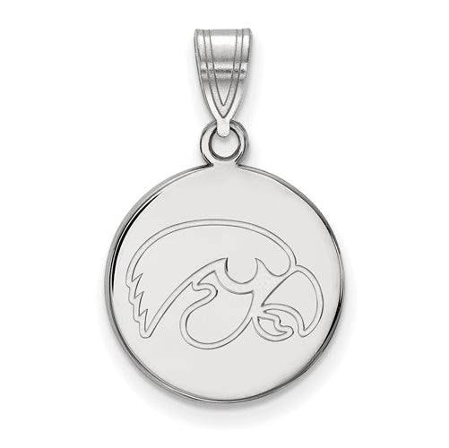 SS University of Iowa Medium Disc Pendant
