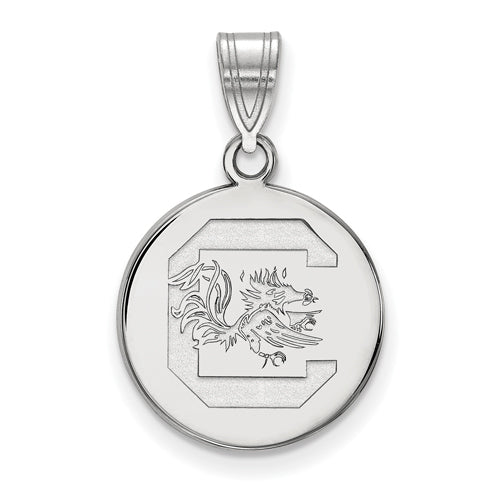 SS University of South Carolina Medium Disc Pendant
