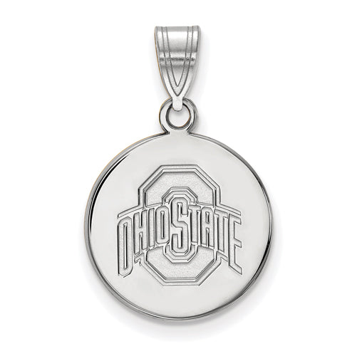 SS Ohio State U Medium Buckeyes Logo Disc Pendant