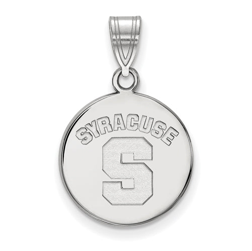 SS Syracuse University Medium Disc Pendant