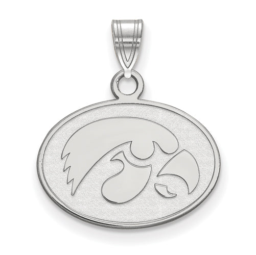 SS University of Iowa Small Hawkeye Disc Pendant