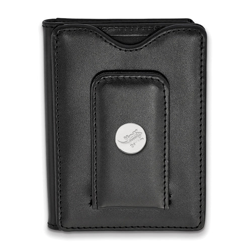 SS Texas Christian University Black Leather Money Clip Wallet
