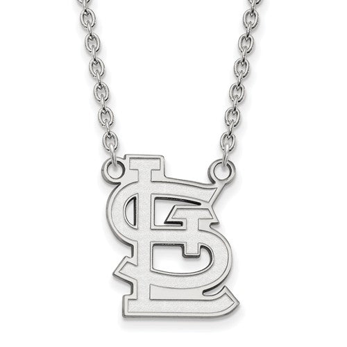 SS MLB  St. Louis Cardinals Large Cap Logo Pendant w/Necklace