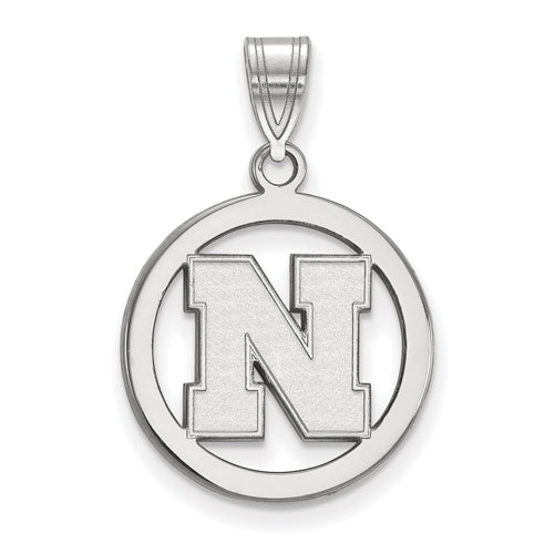 SS University of Nebraska Small Pendant in Circle