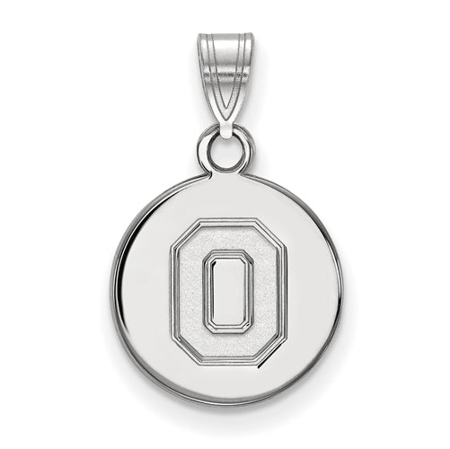 "SS Ohio State U Small Athletic ""O"" Disc Pendant"