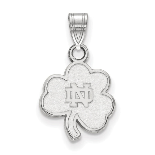 SS University of Notre Dame Small Shamrock Pendant
