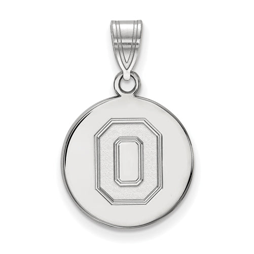 "SS Ohio State U Medium Athletic ""O"" Disc Pendant"