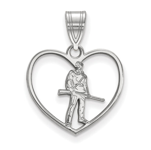 SS West Virginia University in Heart Mountaineer Pendant