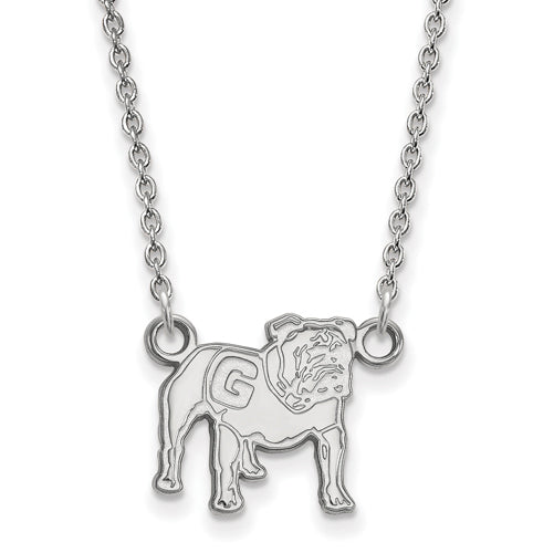 14kw University of Georgia Small Full Body Pendant w/Necklace