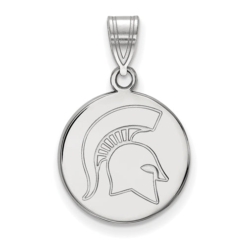SS Michigan State University Medium Disc Spartan Pendant