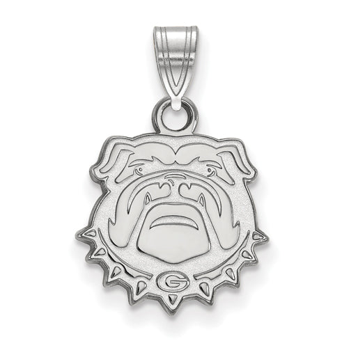 14kw University of Georgia Small Bulldog Face Pendant