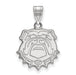 14kw University of Georgia Medium Bulldog Face Pendant