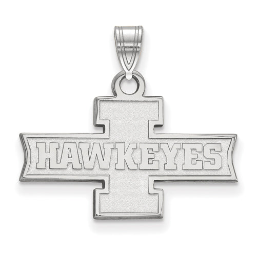 SS University of Iowa Small I HAWKEYES Pendant