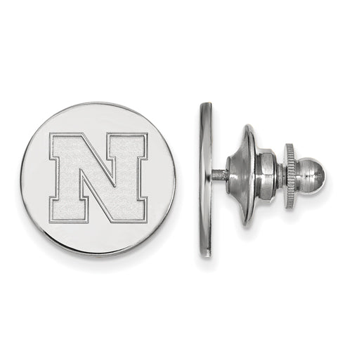 SS University of Nebraska Disc Lapel Pin