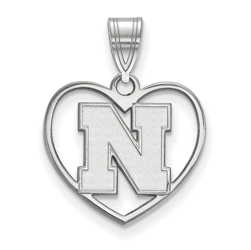 SS University of Nebraska Pendant in Heart