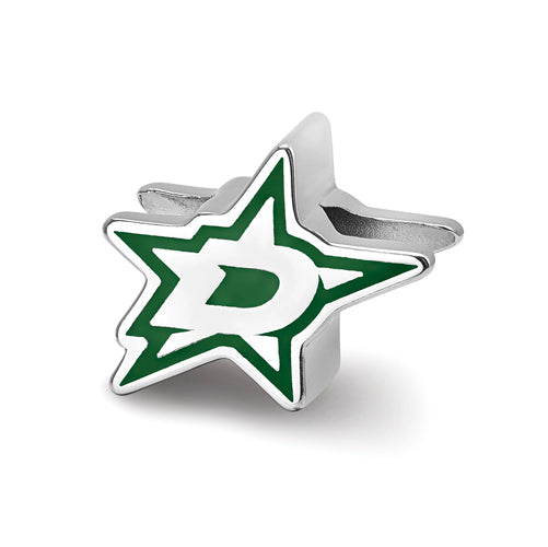 SS Dallas Stars D on Star Enameled Extruded Logo Bead