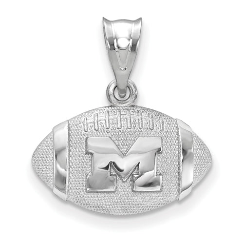Sterling Silver University Of Michigan Football Pendant