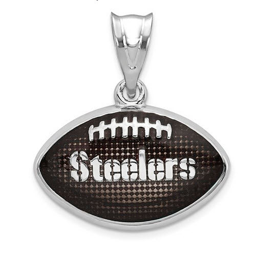 SS  Pittsburgh Steelers Enameled Football Pendant