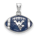 SS West Virginia University Enameled Football Pendant