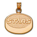Dallas Stars Puck 10 kt Gold Pendant