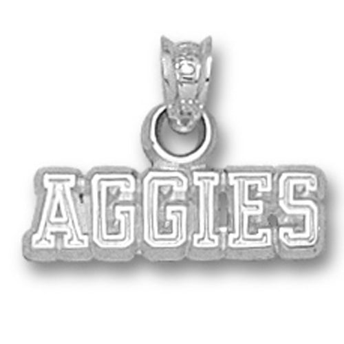 Texas A&M University AGGIES Silver Pendant