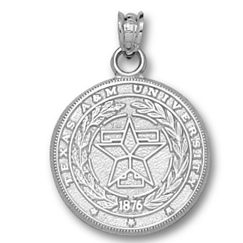 Texas A&M University Seal Silver Medium Pendant