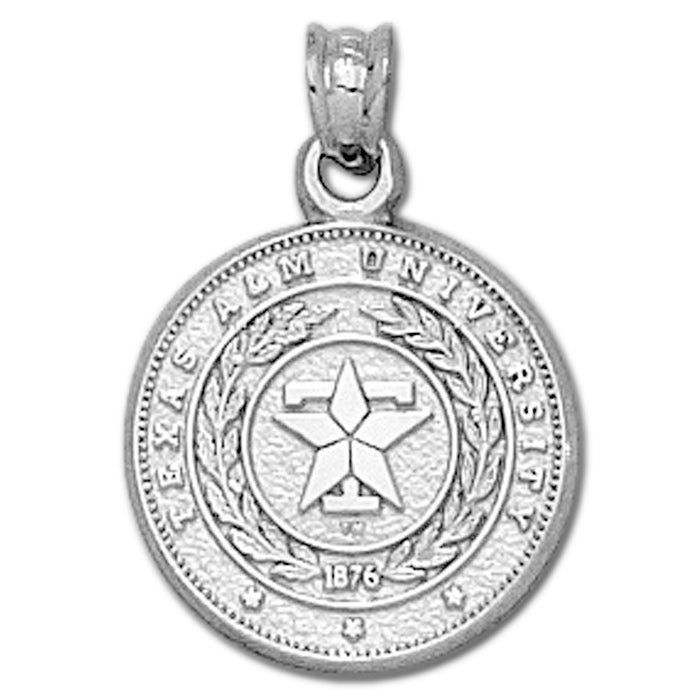 Texas A&M University Seal Silver Small Pendant