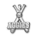 Texas A&M University AGGIES BATS Silver Pendant