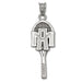 Texas A&M University ATM TENNIS RACQUET Silver Pendant