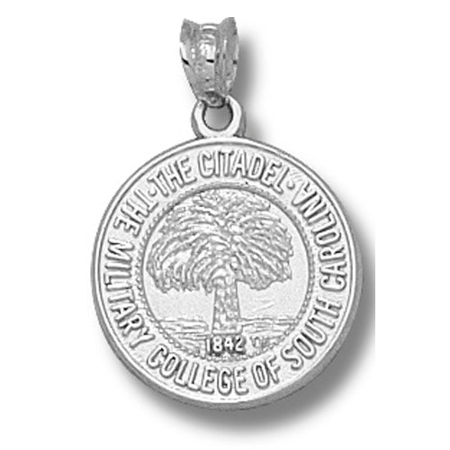 The Citidel  of So Carolina Seal Silver Pendant