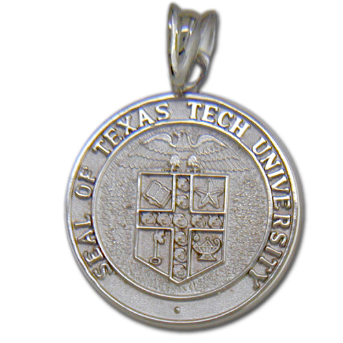 Texas Tech University Seal Silver Pendant