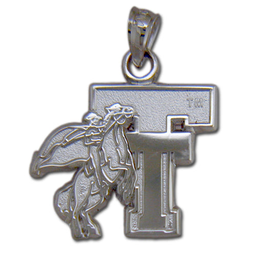 Texas Tech University Red Raider TT Silver Pendant