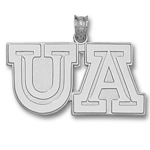University of Arizona UA Sterling Silver Large Pendant