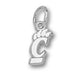 University of Cincinnati PIERCED C PAW Silver XS Pendant