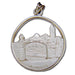 University of California BERKELEY SATHER GATE  Silver Pendant
