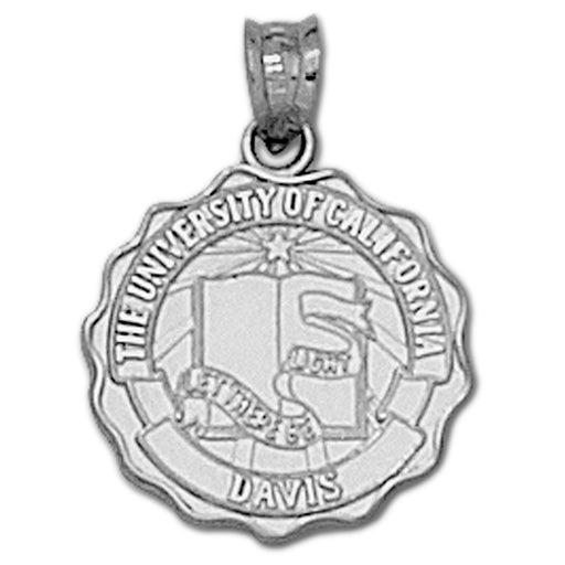 University of California Davis Seal  Silver Pendant