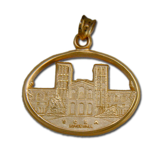 University of California at Los Angeles ROYCE HALL 14 kt Gold Pendant