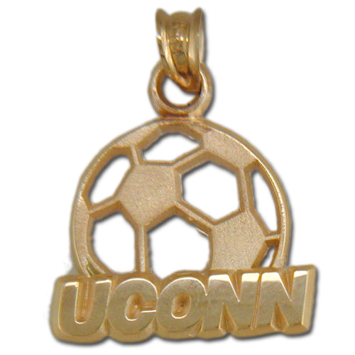 University of Connecticut UCONN SOCCERBALL 14 kt Gold Pendant