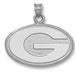 University of Georgia G Large Silver Pendant