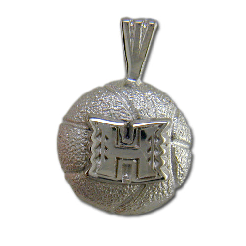 University of Hawaii H BASKETBALL Silver Pendant