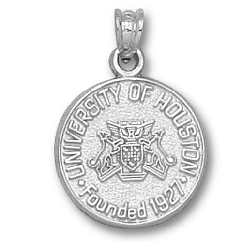 University of Houston Seal Silver Small Pendant
