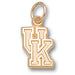 University of Kentucky UK Small 10 kt Gold Pendant