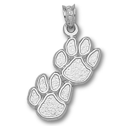 University of Kentucky DOUBLE PAW Silver Pendant