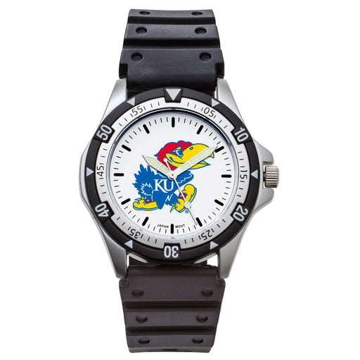 Univ Of Kansas Option Sport Watch With PU Rubber Strap