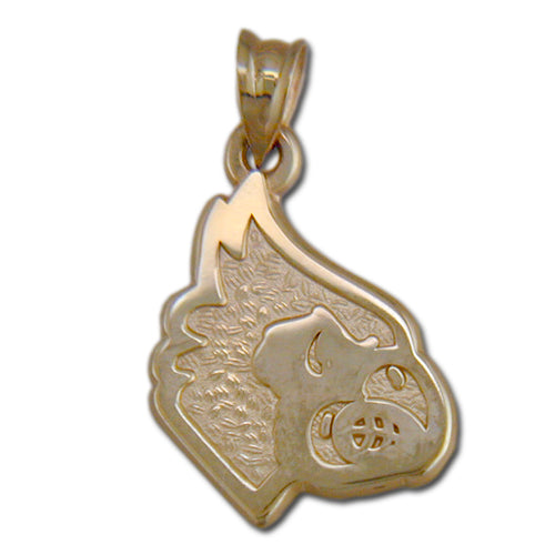 University of Louisville Cardinal Head 10 kt Gold Pendant